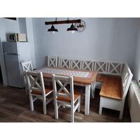 jídelní set Poprad + rohová lavice