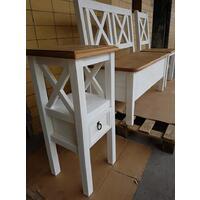 květník + lavice + židle