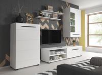 Berta, obývací stěna bílá matná