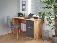 Miron, psací stůl, dub kraft/šedá