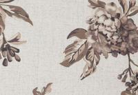 potahová látka Rose 15, hnědé květy