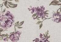 potahová látka Rose 18, fialové květy