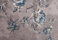 potahová látka Rose 20, modré květy/tmavý podklad