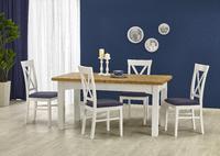 Leonardo/Bergamo, jídelní set (stůl + 6 židlí)