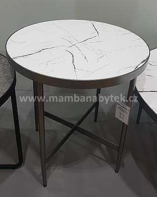 Dolores C, odkládací stolek imitace mramoru/šedá - 1