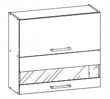 White, kuchyňská skříňka horní W09/G80, bílý lesk - 1