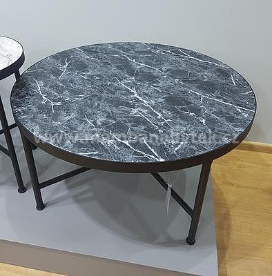 Amulet, konferenční stolek mramor/černá - 1