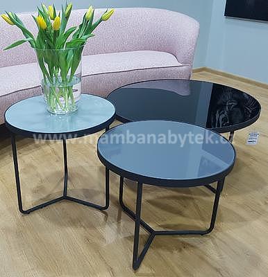 Artemida, konferenční stolek šedá/černá - 1