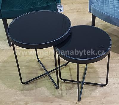 Atena, odkládací stolek černá/černá - 1