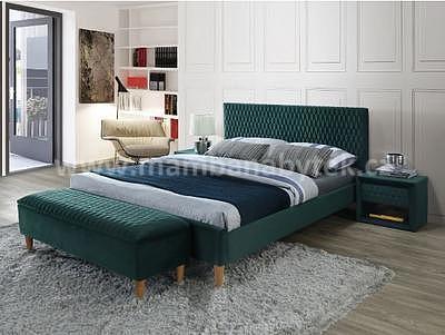 Azurro, 160x200 cm, zelená sametová - 1