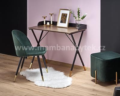 Benjamin, psací stůl, ořech/černá/zlatá - 1