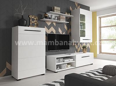 Berta, obývací stěna bílá matná - 1