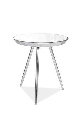 Bora C, odkládací stolek zrcadlo/chrom - 1
