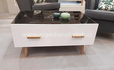Brillo, konferenční stolek, bílá/dub ribeck - 1