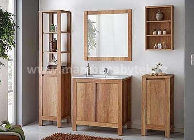 Classic Oak 80, koupelnová sestava dub románský + umyvadlo - 1