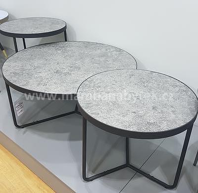 Demeter, konferenční stolek beton/černá - 1