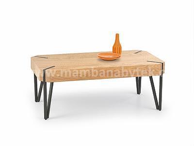 Emily, konferenční stolek, dub zlatý/černý