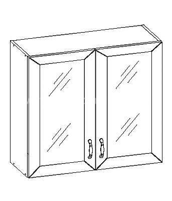 Romance, kuchyňská skříňka horní FE-06/G80W