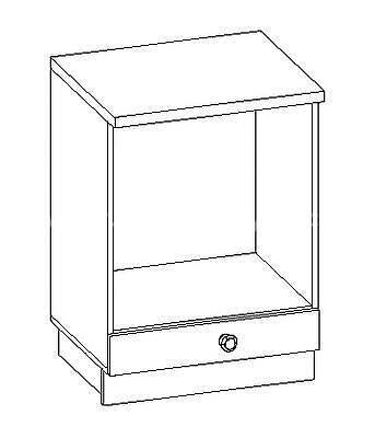 Romance, kuchyňská skříňka na spotřebič FE-08/D60 P