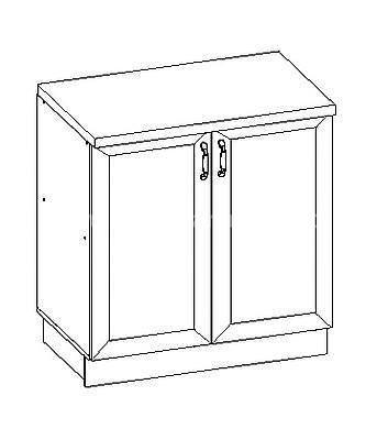 Romance, kuchyňská skříňka dolní FE-10/D80