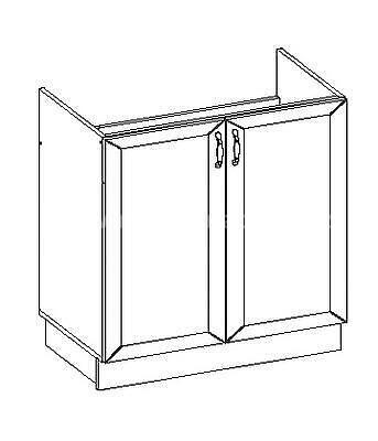 Romance, kuchyňská skříňka dřezová FE-11/D80 ZL