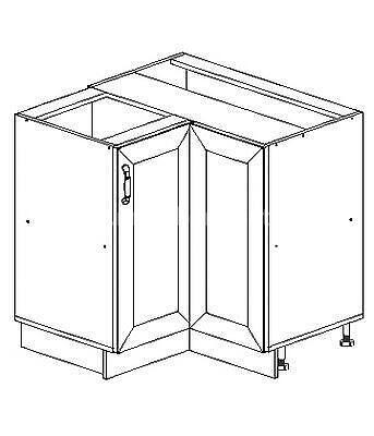 Romance, kuchyňská skříňka dolní rohová FE-12/D90