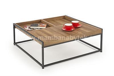 Fregata, konferenční stolek, ořech medový/černá - 1