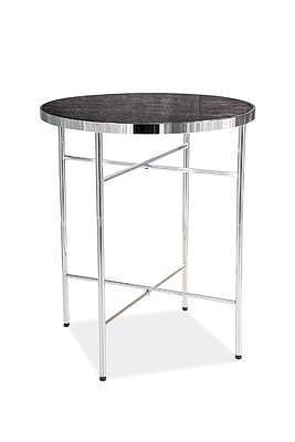 Ibiza C, odkládací stolek tvrzené sklo/stříbrná - 1
