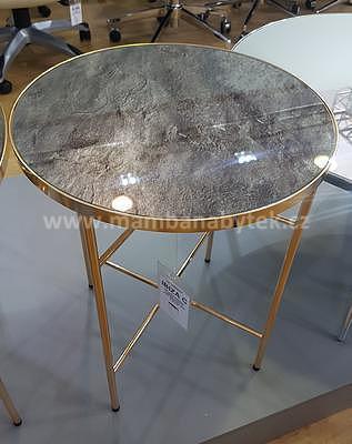 Ibiza C, odkládací stolek tvrzené sklo/zlatá - 1
