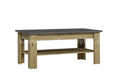 XL, konferenční stolek ST, dub artisan/šedá