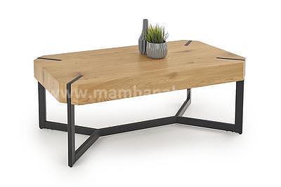 Lavida, konferenční stolek, dub zlatý/černá - 1