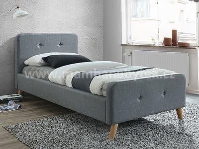 Malmo, 90x200 cm, šedá