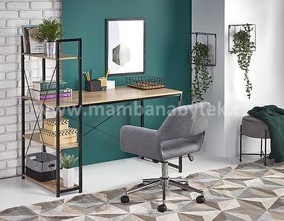 Bruno, psací stůl, dub sonoma/černá - 1