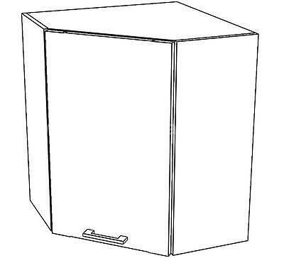 White, kuchyňská skříňka horní W10/G60NW, bílý lesk - 1