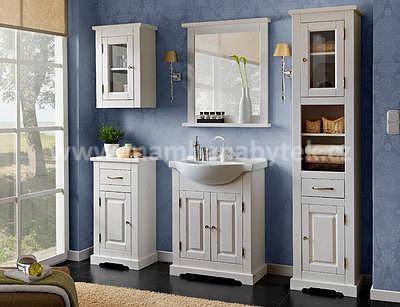 Romantic 65, koupelnová sestava bílá + umyvadlo - 1
