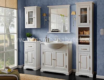 Romantic 85, koupelnová sestava bílá + umyvadlo - 1