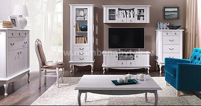 Darina, obývací stěna bílá - 1