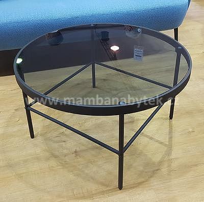 Vanessa, konferenční stolek kouřové sklo/černá - 1