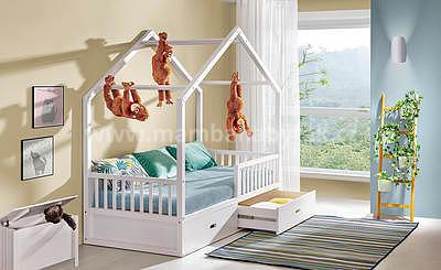 Viki, postel ve tvaru domu - 1