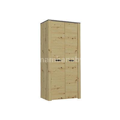 XL, skříň S2D, dub artisan/šedá - 1