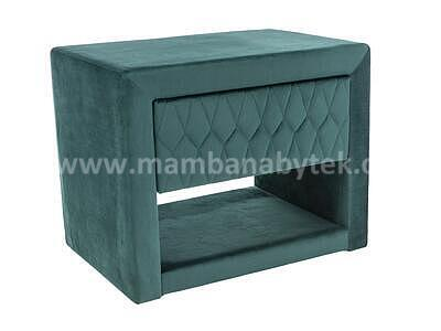 Azurro, noční stolek, zelená sametová