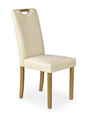 židle Caro, buk/krémová - 1
