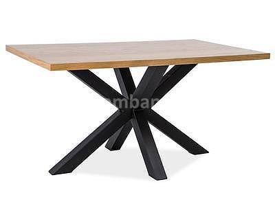 Cross, jídelní stůl, dub/černá