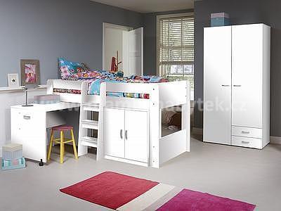 Dětská postel Funky bílá, bílá - 1