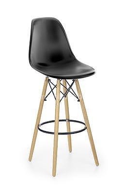 židle barová H51, černá/buk
