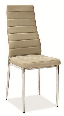 židle H261, tmavá béžová