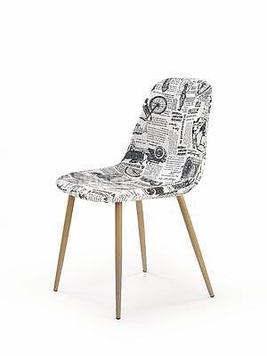 židle K220, bílá s potiskem - 1