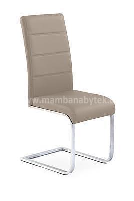 židle K85, tmavá krémová