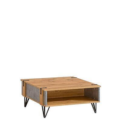Loft 12, konferenční stolek, beton/dub wotan - 1