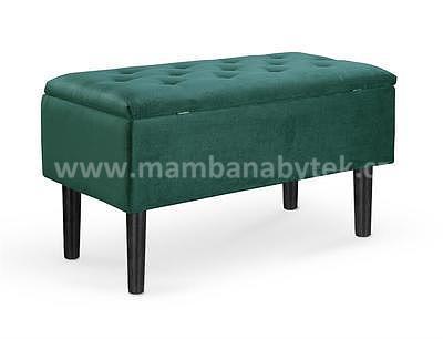 Cleo, taburet - lavice zelená